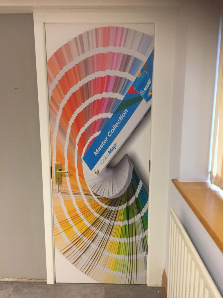 Full Range Print Solutions Mapei Training Room Photo text wallpaper 3