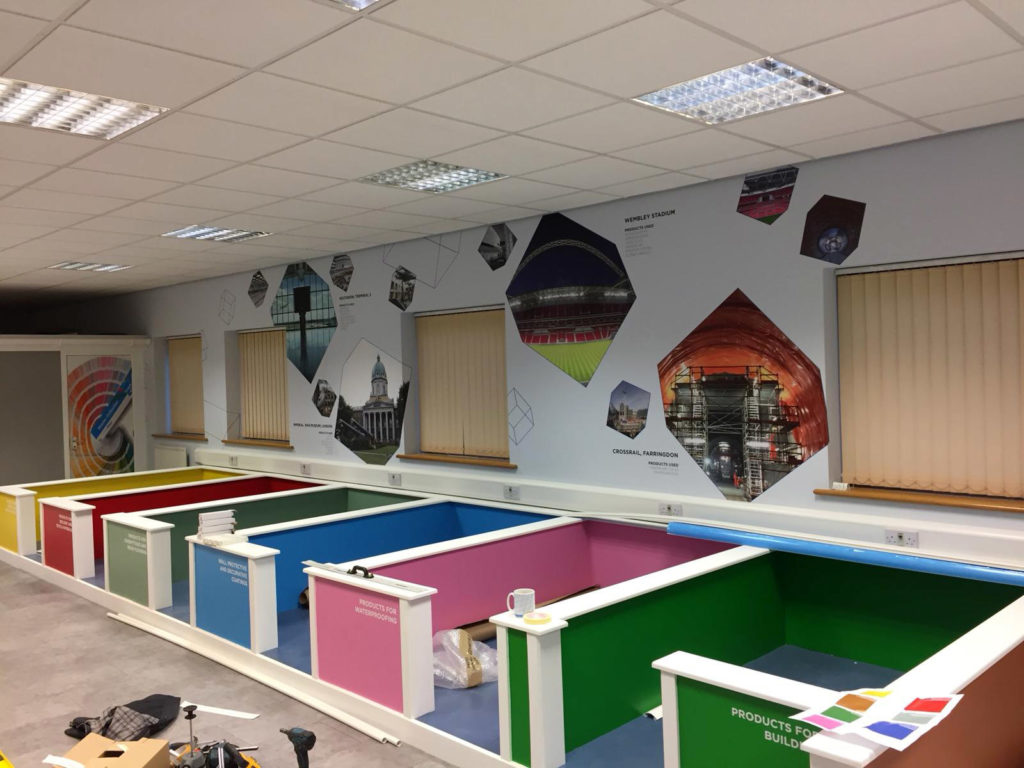 Full Range Print Solutions Mapei Training Room Photo text wallpaper 5