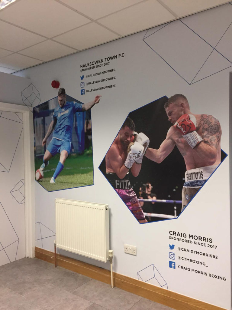 Full Range Print Solutions Mapei Training Room Photo text wallpaper 7